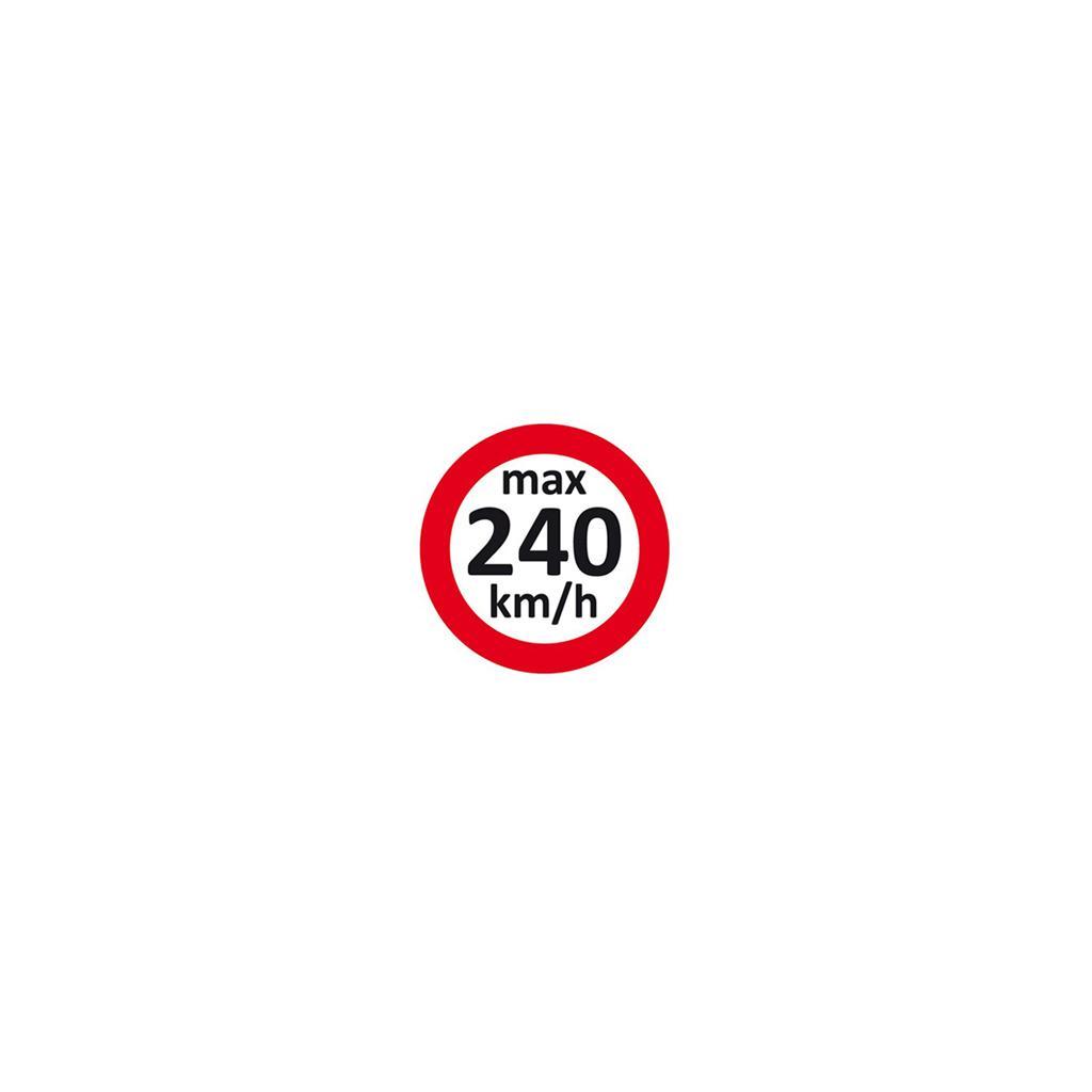 Geschwindigkeitsaufkleber 240 km/h