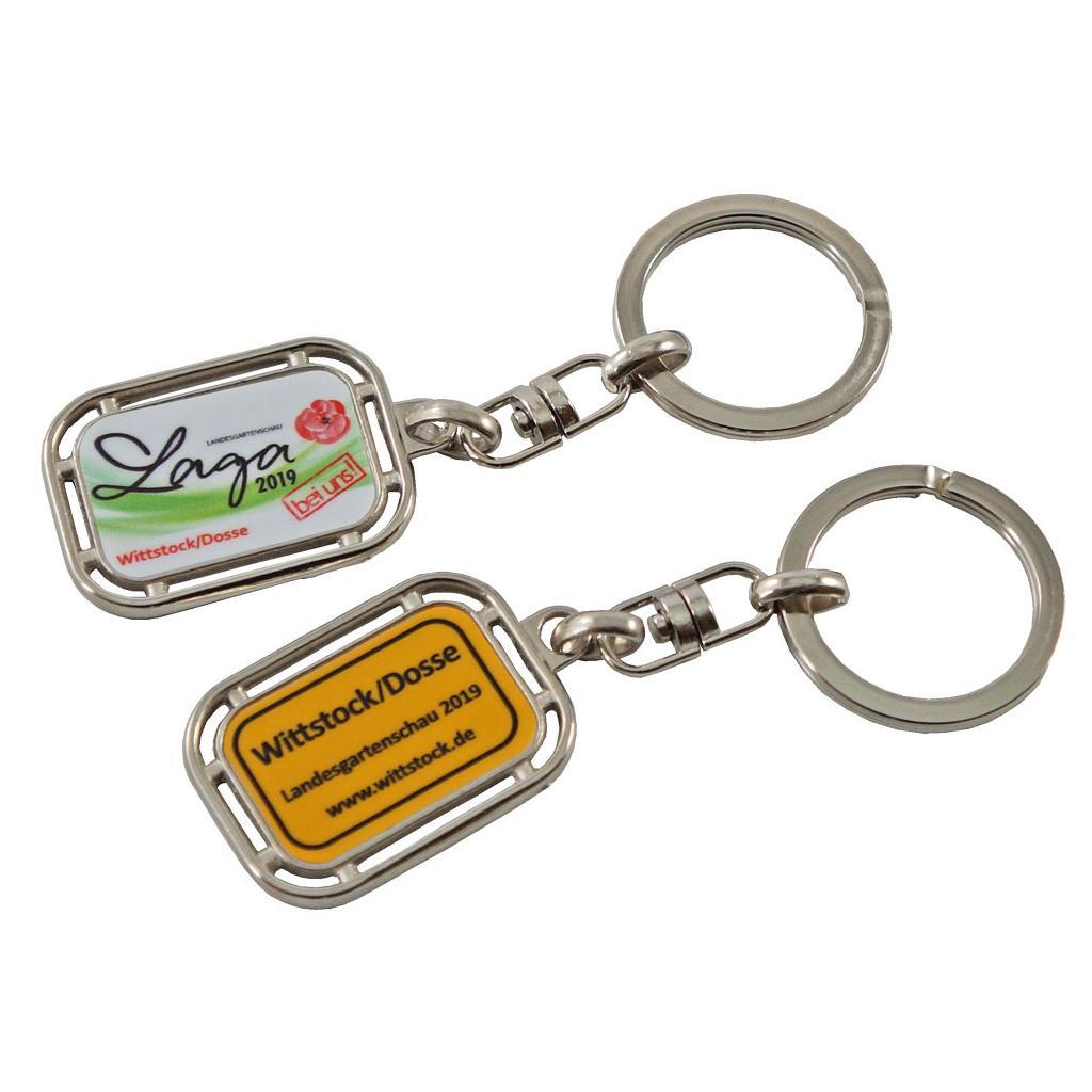 """Schlüsselanhänger """"Ortsschild""""  aus Metall"""