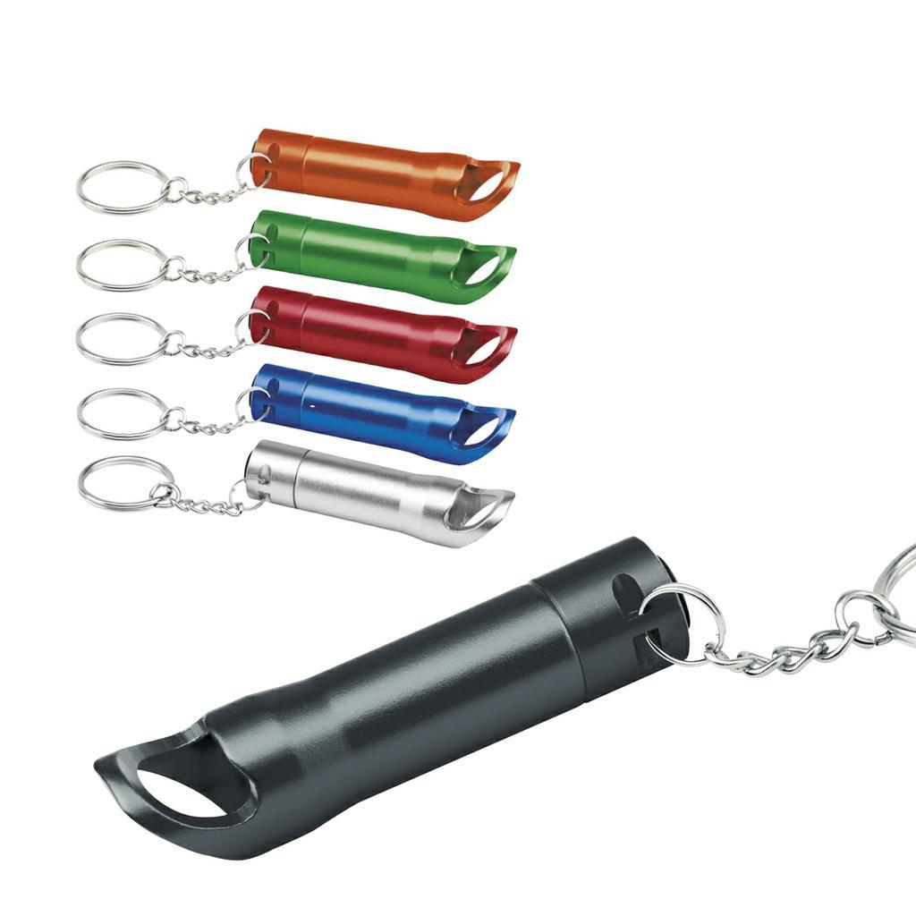 3 LED Taschenlampe -  Schlüsselanhänger - Flaschenöffner