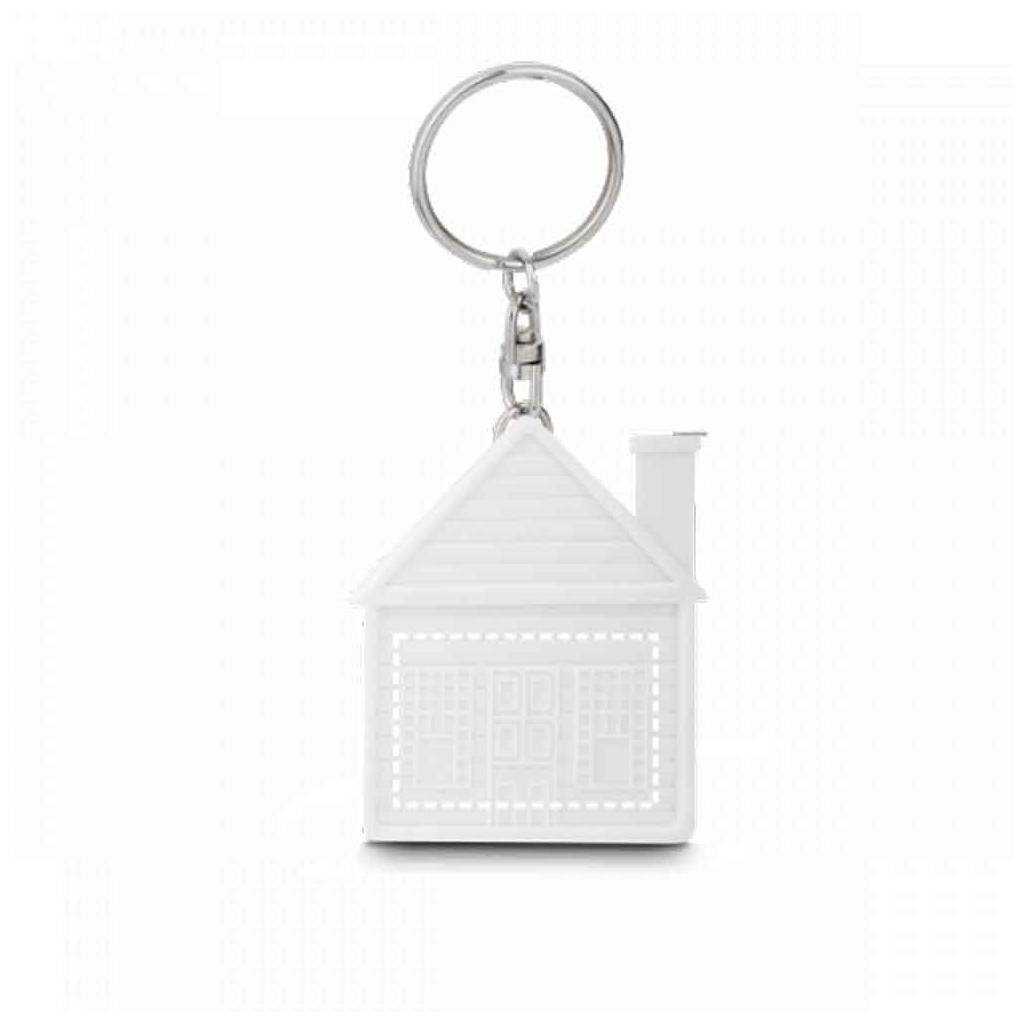 """Schlüsselanhänger """"Haus""""- mit Maßband"""