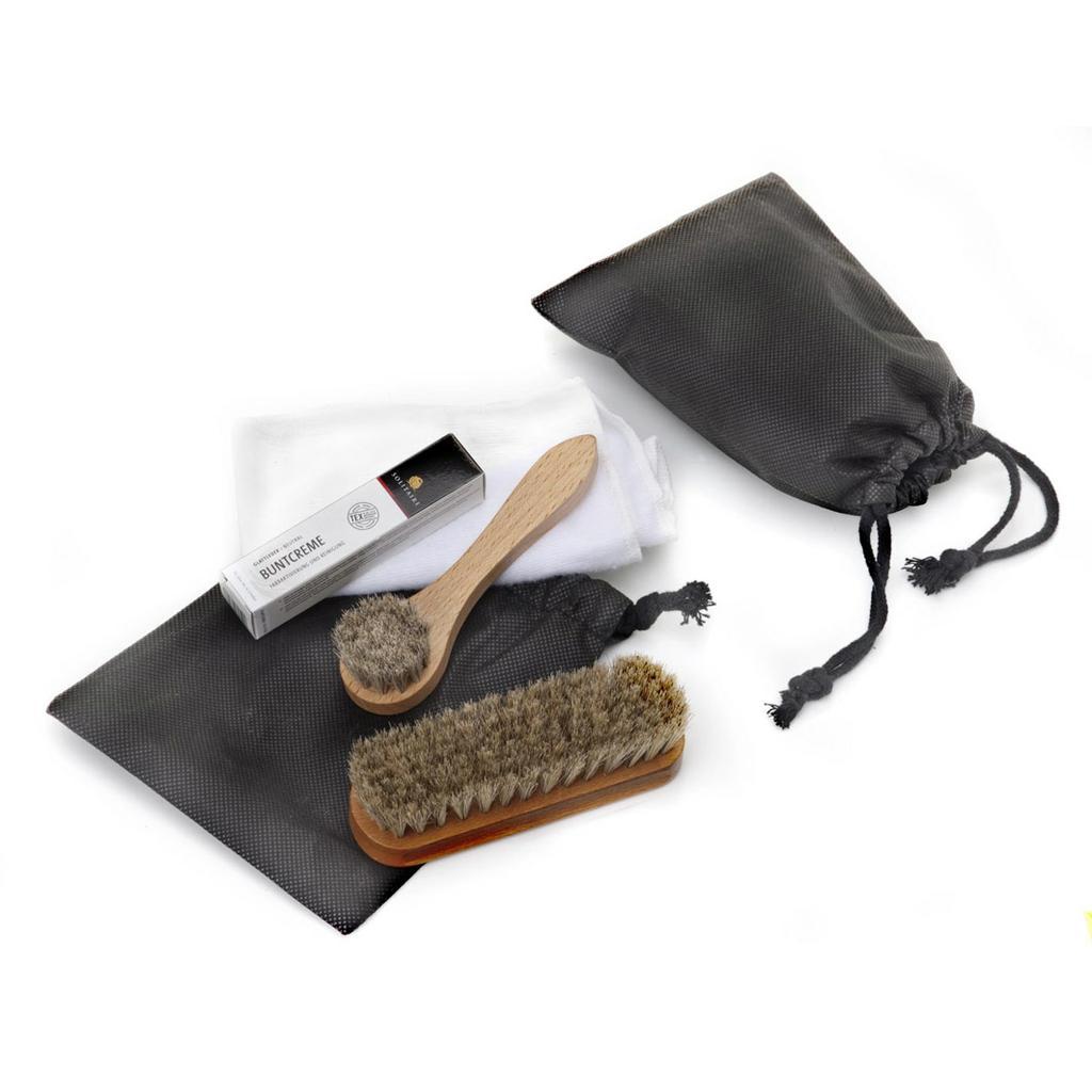 Schuhpflege-Set im Baumwollbeutel