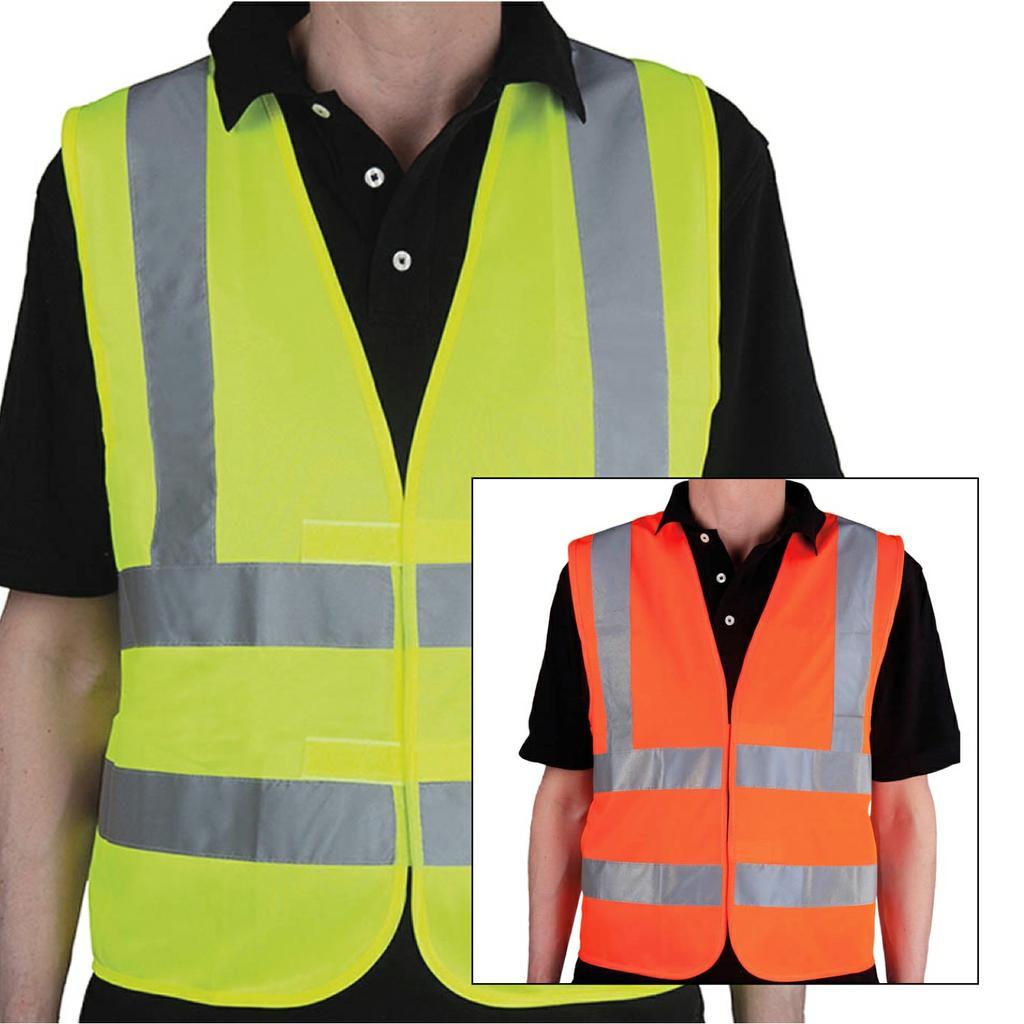 Qualitäts-Warnweste - PLUS - Schulterstreifen - neutral
