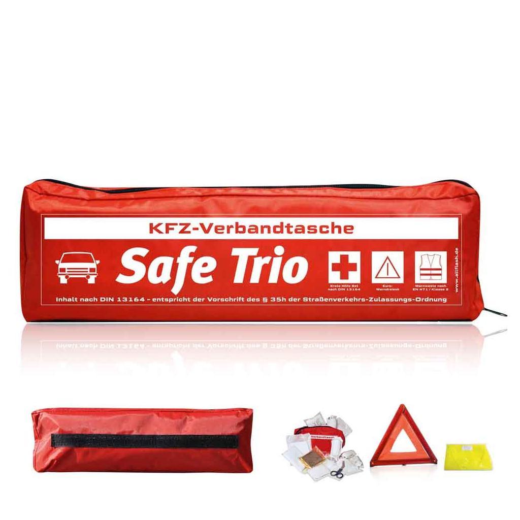 KFZ-Verbandtasche - SAFE TRIO STANDARD - 3 Farben