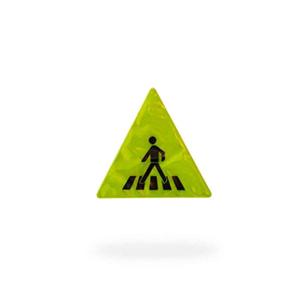 """Verkehrszeichen-Sticker - """"Zebrastreifen""""- Reflektierend - 2 Farben"""