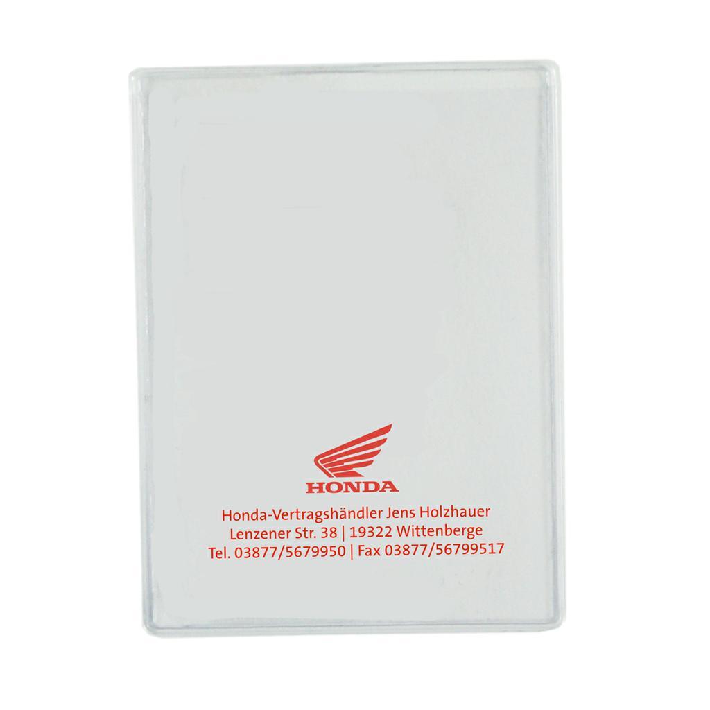 KFZ-Schein-Hülle aus transparenter Klarsichtfolie