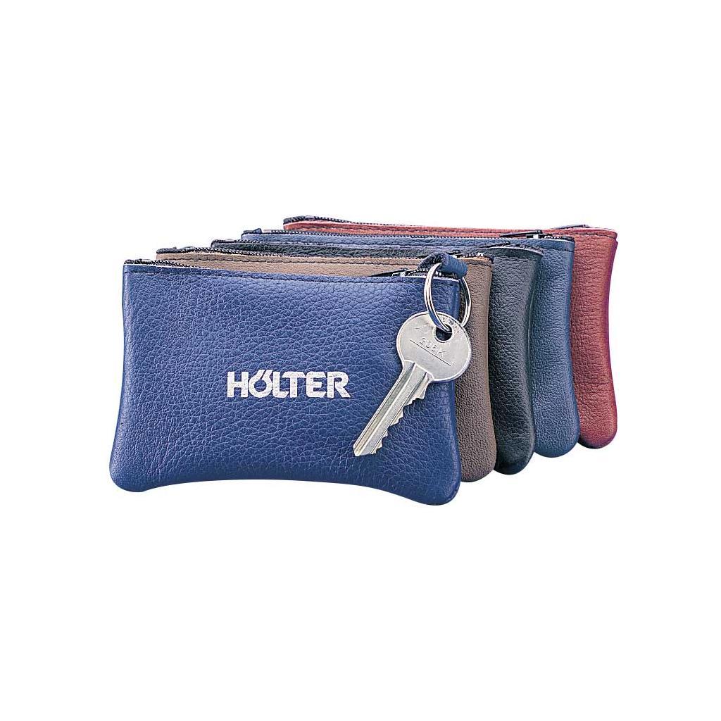 Leder-Schlüsseltasche farblich sortiert