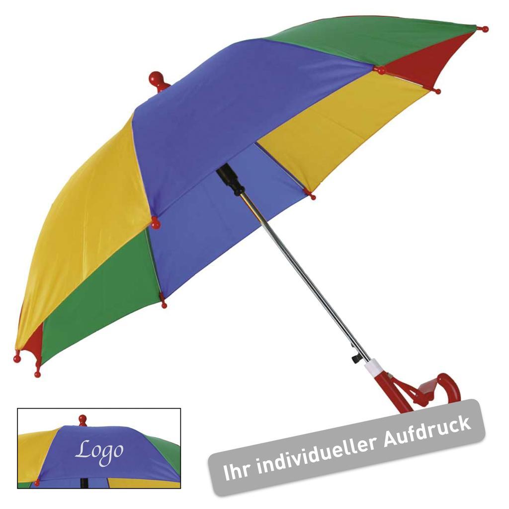 """Kinder Regenschirm """"Rainbow"""" - mit Werbeaufdruck"""