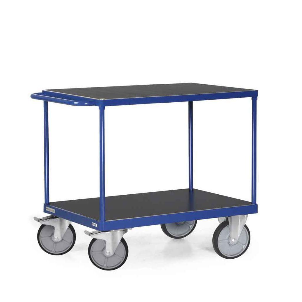 Tischwagen 850 x 500 mm - 2 Ladeflächen - Traglast 500 kg