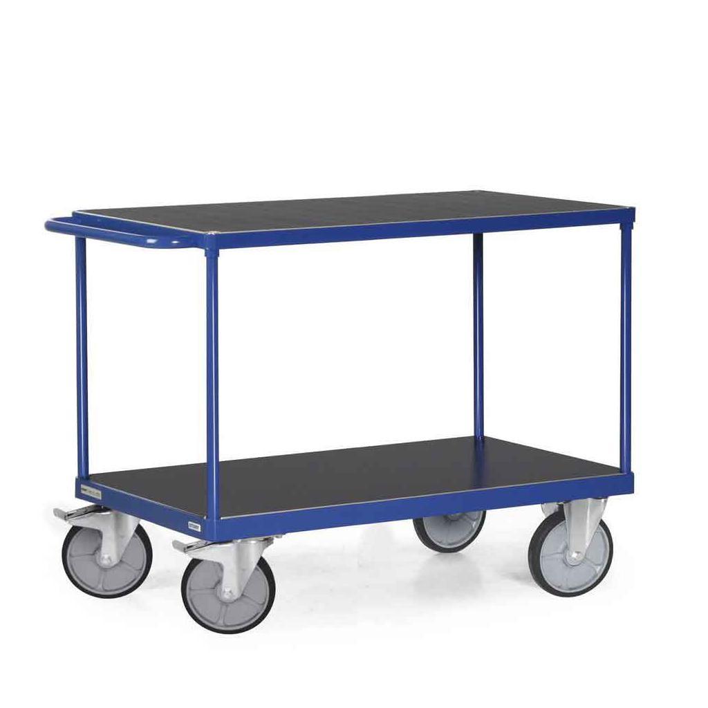 Tischwagen 1200 x 800 mm - 2 Ladeflächen - Traglast 600 kg