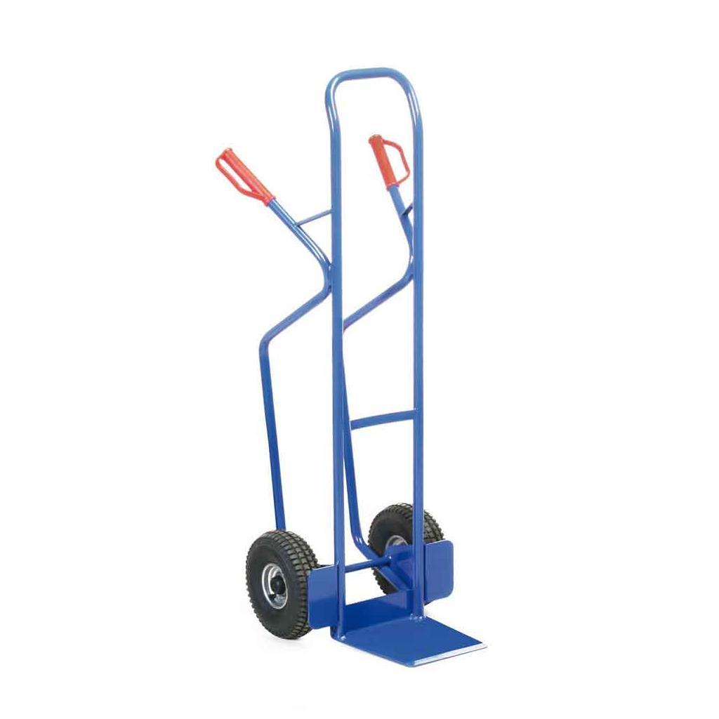 Stahlrohr-Stapelkarre - Luftbereifung - 350 kg Traglast