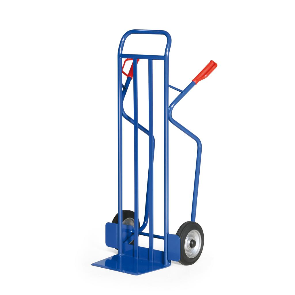Stahlrohr-Stapelkarre - Vollgummibereifung - 350 kg Traglast