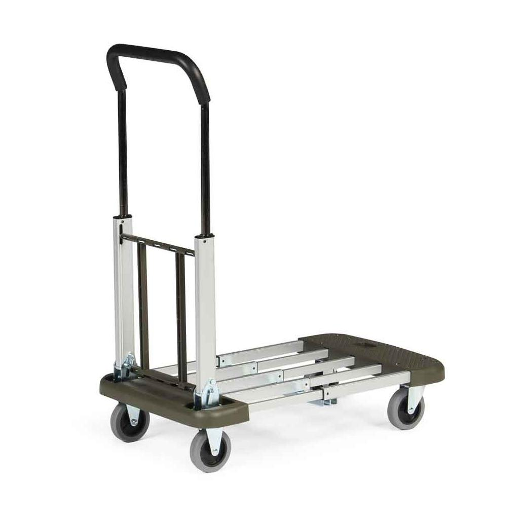 Aluminium-Transportwagen - klappbar - ausziehbare Ladefläche - Traglast 150 kg