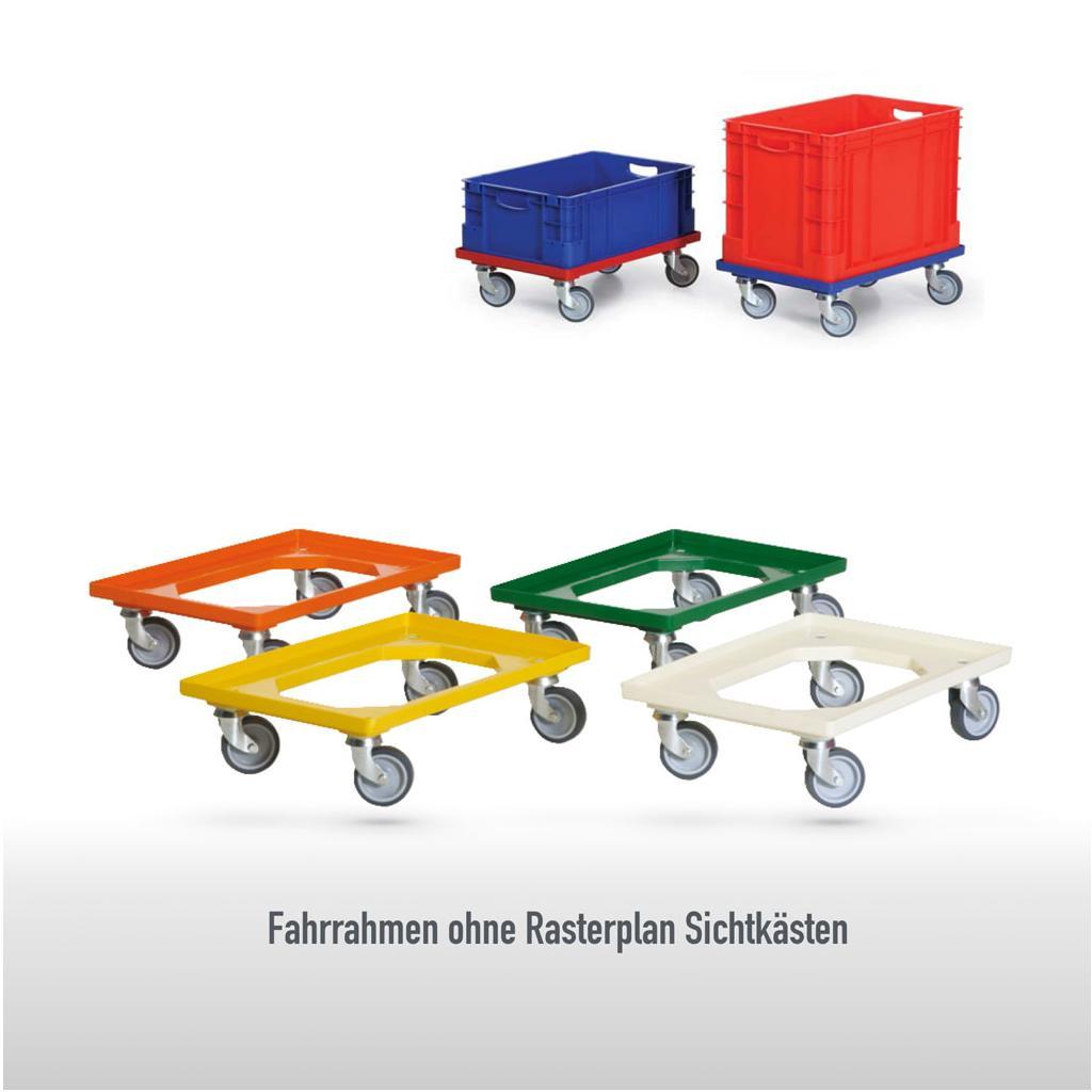 Fahrrahmen - ABS-Kunststoff - für 1 Transportkasten - 400 × 600 mm
