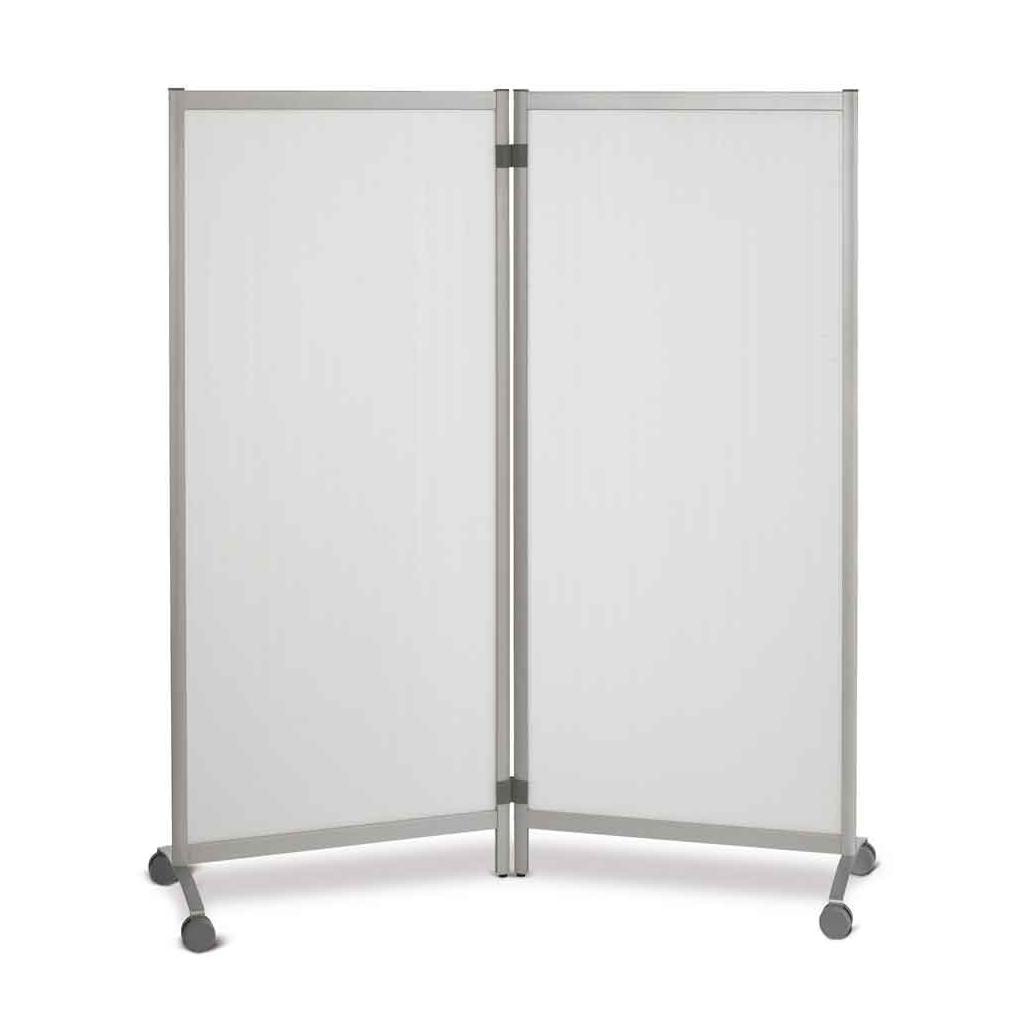 Mobile Trennwand - Sichtschutz - aluminiumfarben oder transparent