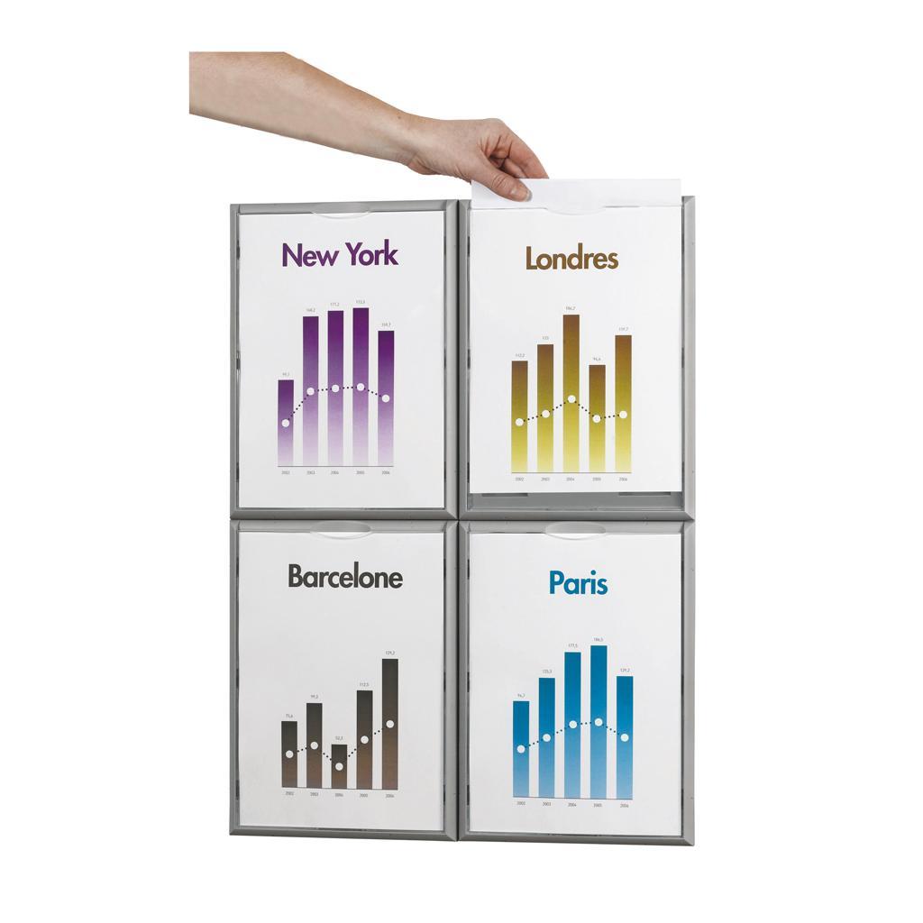 Info-Display - Format DIN A4 - VE mit 4 Stück