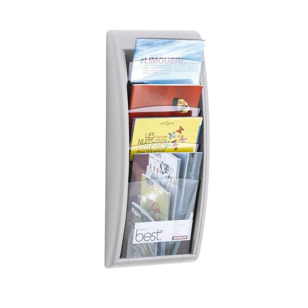 Wandhalter für Prospekte - DIN A4 hoch - Alufarben