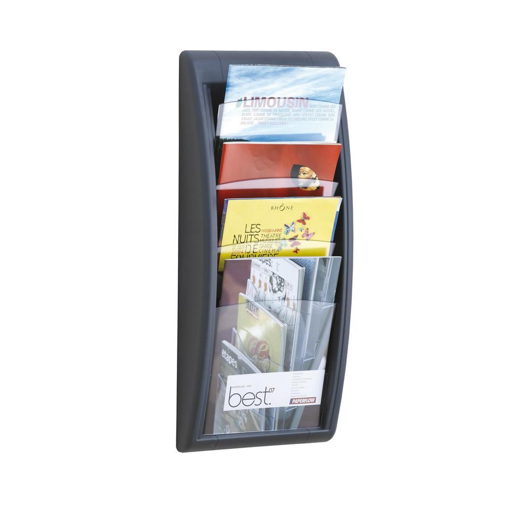Wandhalter für Prospekte - DIN A4 hoch - Anthrazit