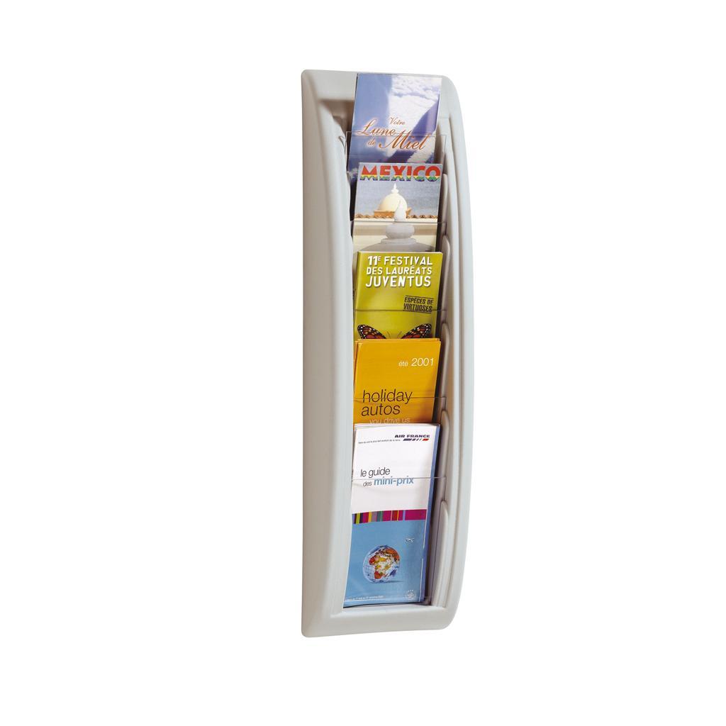 Wandhalter für Prospekte - 1/3 DIN A4 - Alufarben
