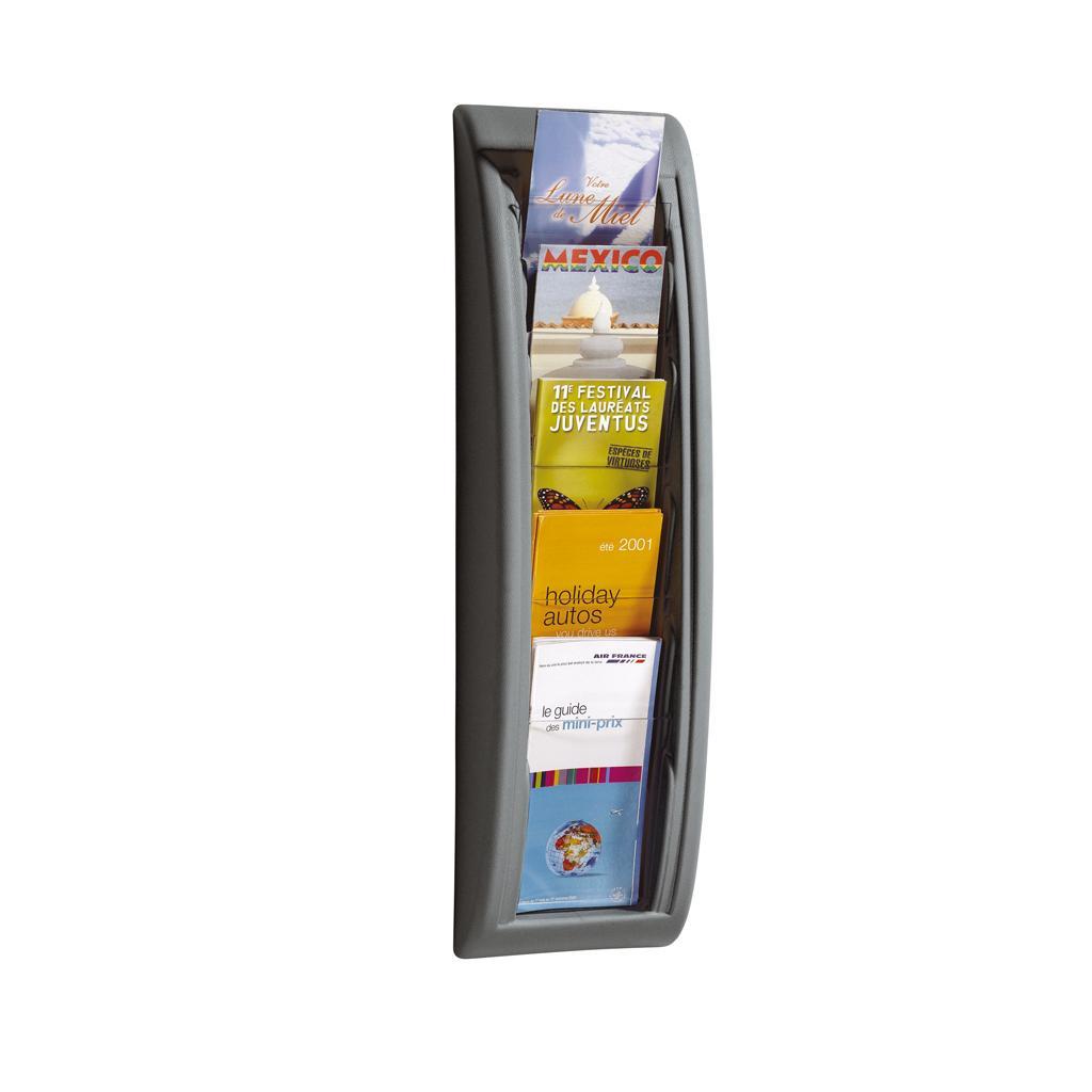 Wandhalter für Prospekte - 1/3 DIN A4 - Anthrazit