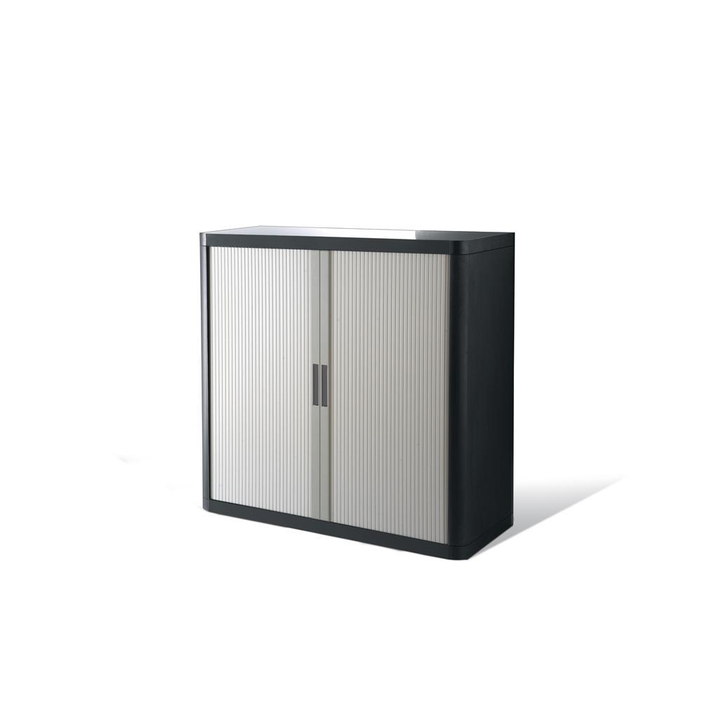 Rollladenschrank - Kunststoff - H 1000 mm - Anthrazit/Lichtgrau
