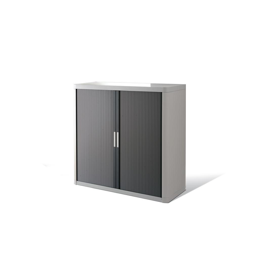 Rollladenschrank - Kunststoff - H 1000 mm - Lichtgrau/Anthrazit