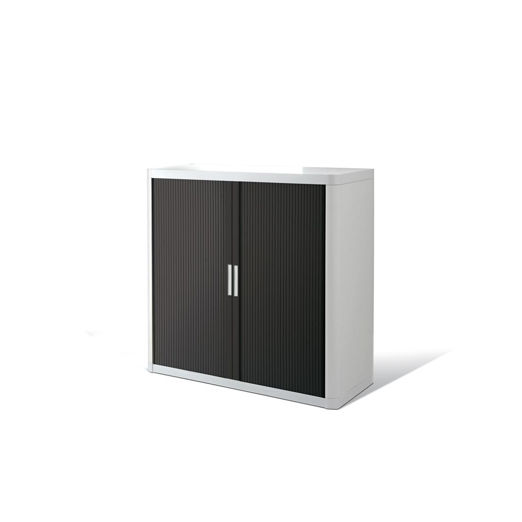 Rollladenschrank - Kunststoff - H 1000 mm - Weiss/Schwarz
