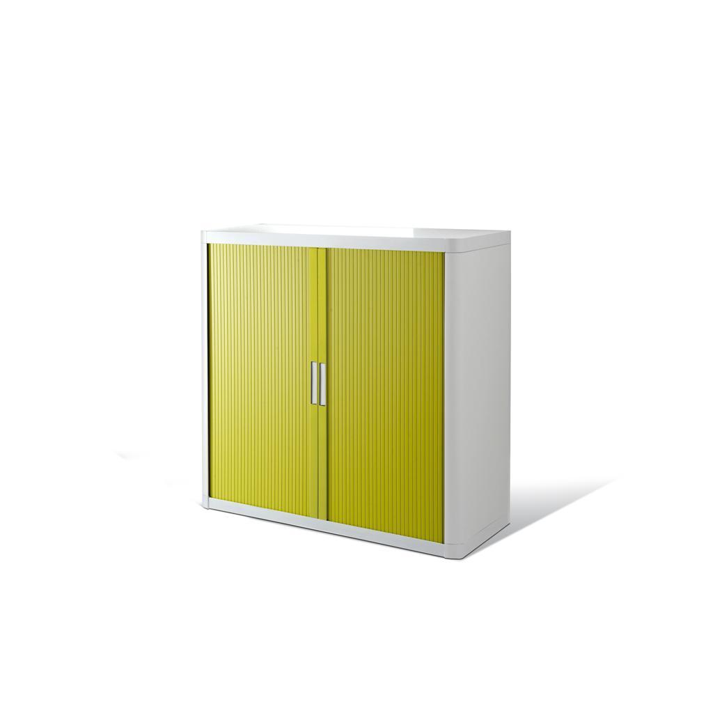 Rollladenschrank - Kunststoff - H 1000 mm - Weiss/Grün