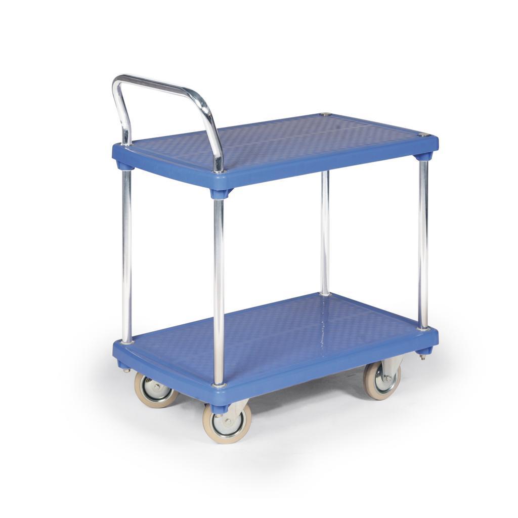 Kleintransportwagen - 2 Kunststoff-Ladeflächen - Traglast 200 kg