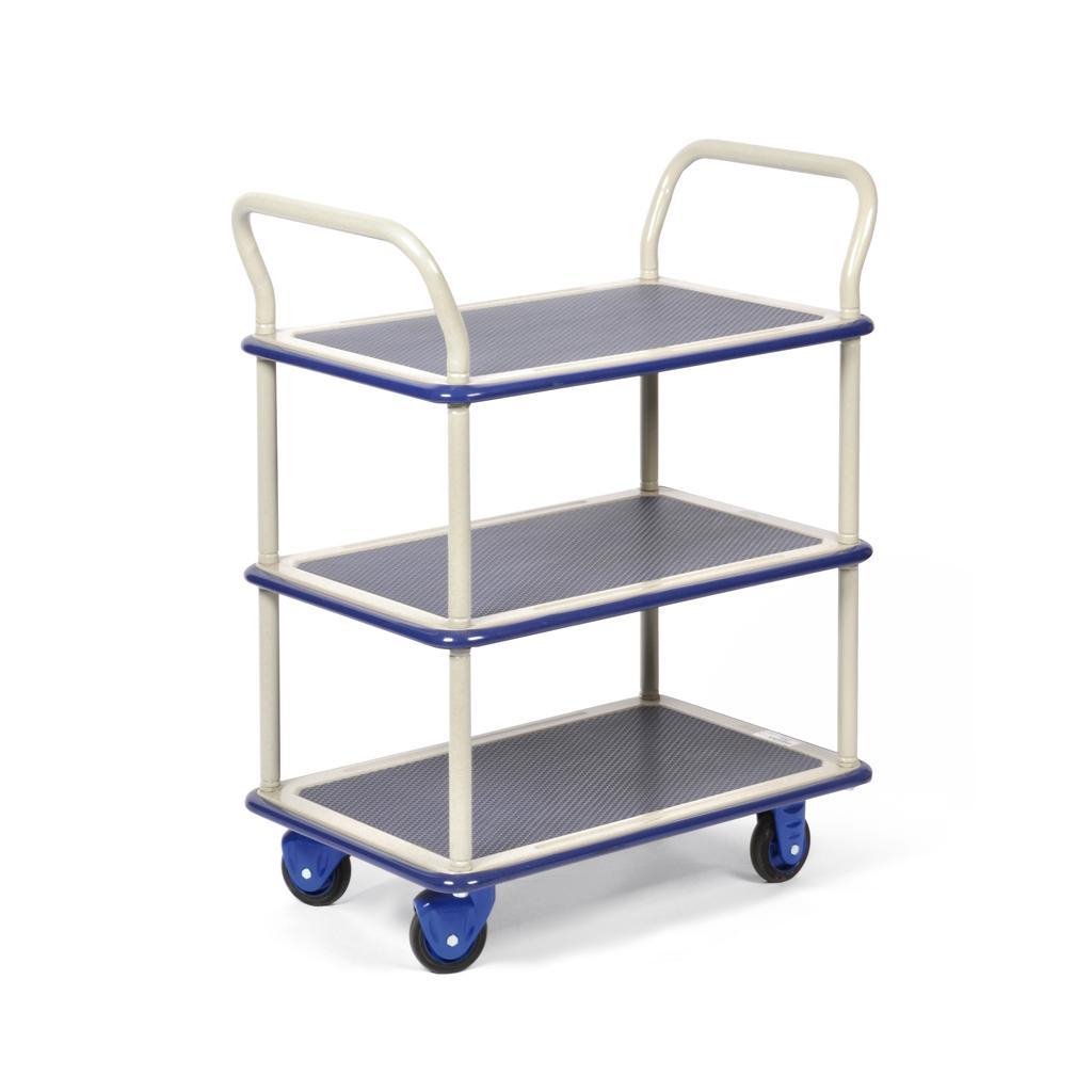 Transportwagen mit 3 Ladeflächen - Traglast bis 150 kg