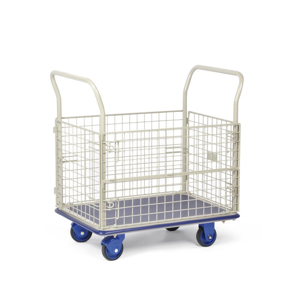 Transportwagen mit Gitterwänden - Traglast bis 150 kg