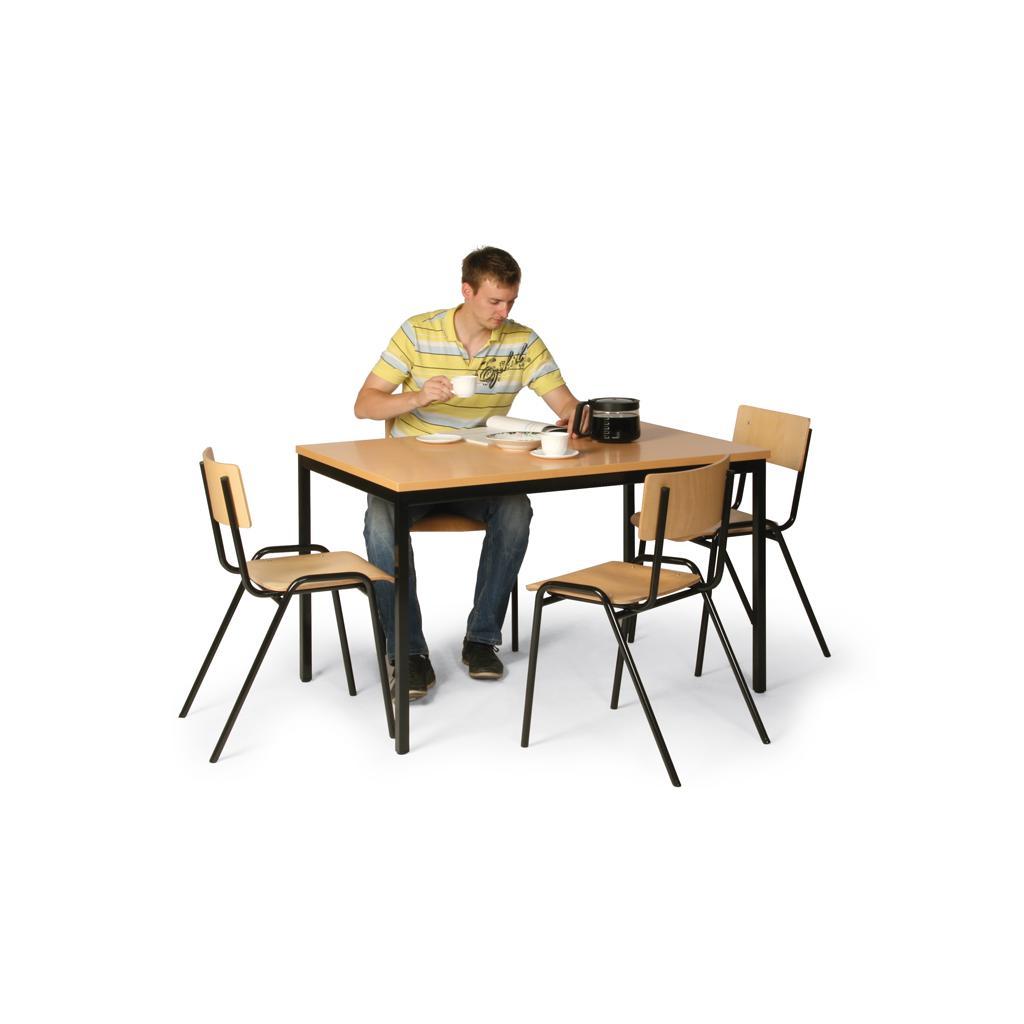 Tisch-Stuhl-Kombination - Tisch 1600 x 800 mm - 4 Stühle