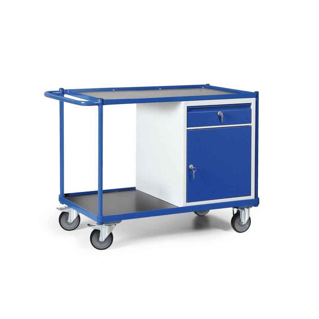 Werkstattwagen mit Schiebegriff - Schrank mit Schublade - Tragkraft 300 kg