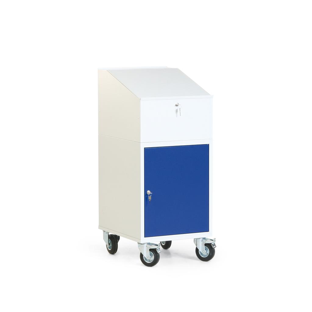 Werkstatt-Schreibpult - 1 Schrank - Rollcontainer mit Pultaufsatz