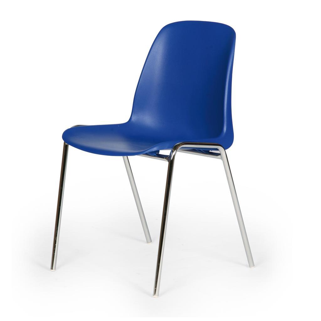 Kunststoff-Stapelstuhl - Blau