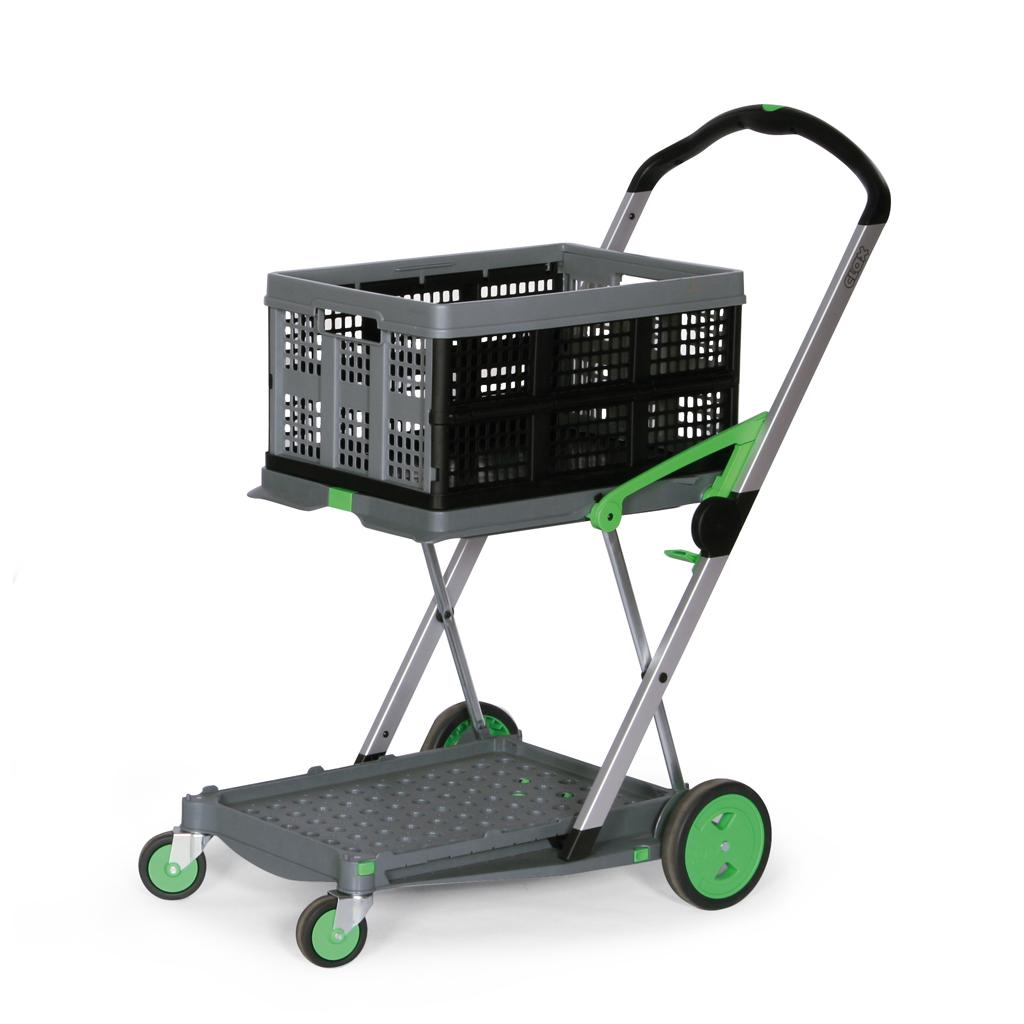CLAX® Klappmobil - 1 Klappbox 46 l - Grau/Grün