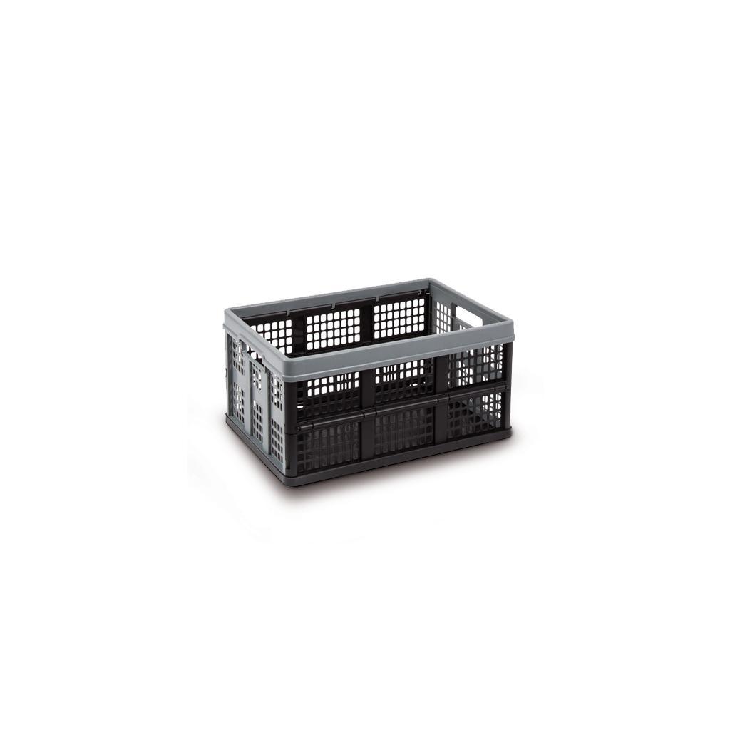 CLAX® Transport-Klappbox - 46 Liter - Schwarz/Grau - Zubehör