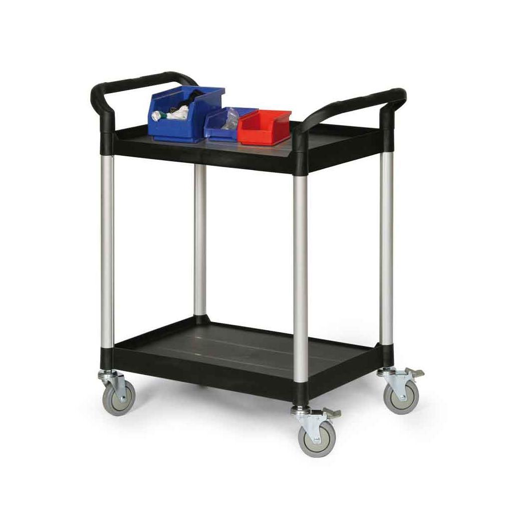 Kunststoff-Etagenwagen - 2 Ladeflächen - 680 × 450 mm
