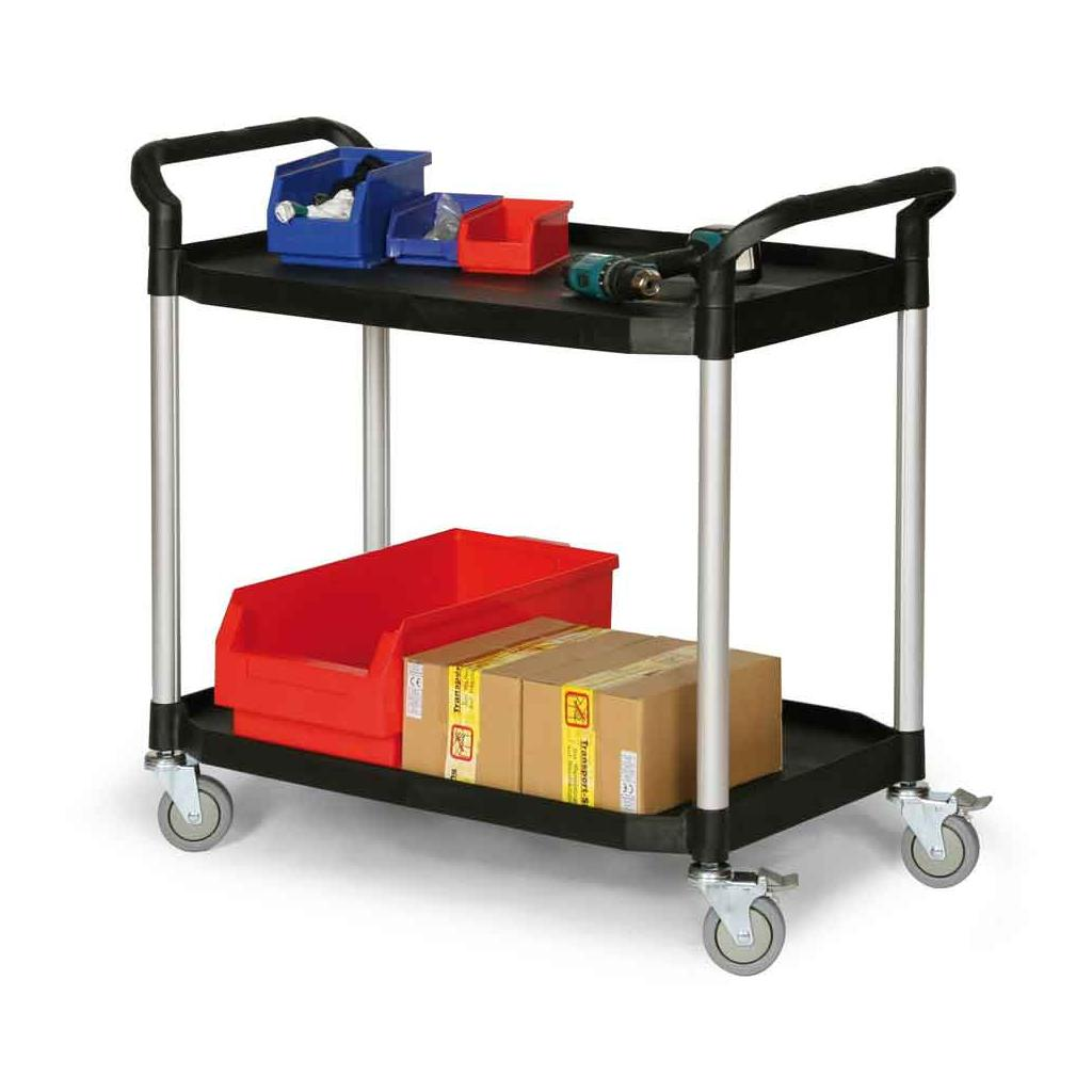Kunststoff-Etagenwagen - 2 Ladeflächen - 915 × 520 mm