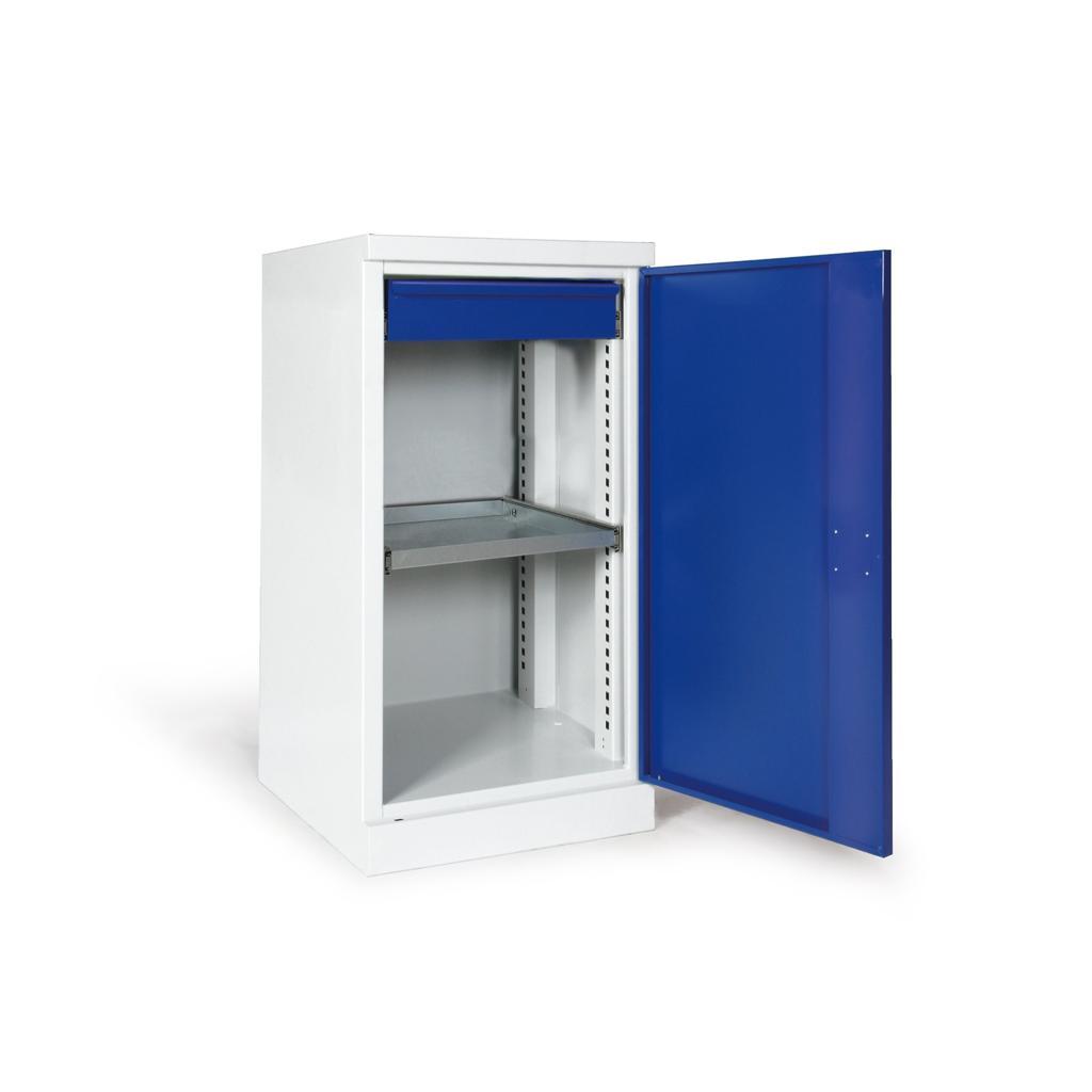 Materialschrank - eintürig - 1 Boden - 1 Schublade