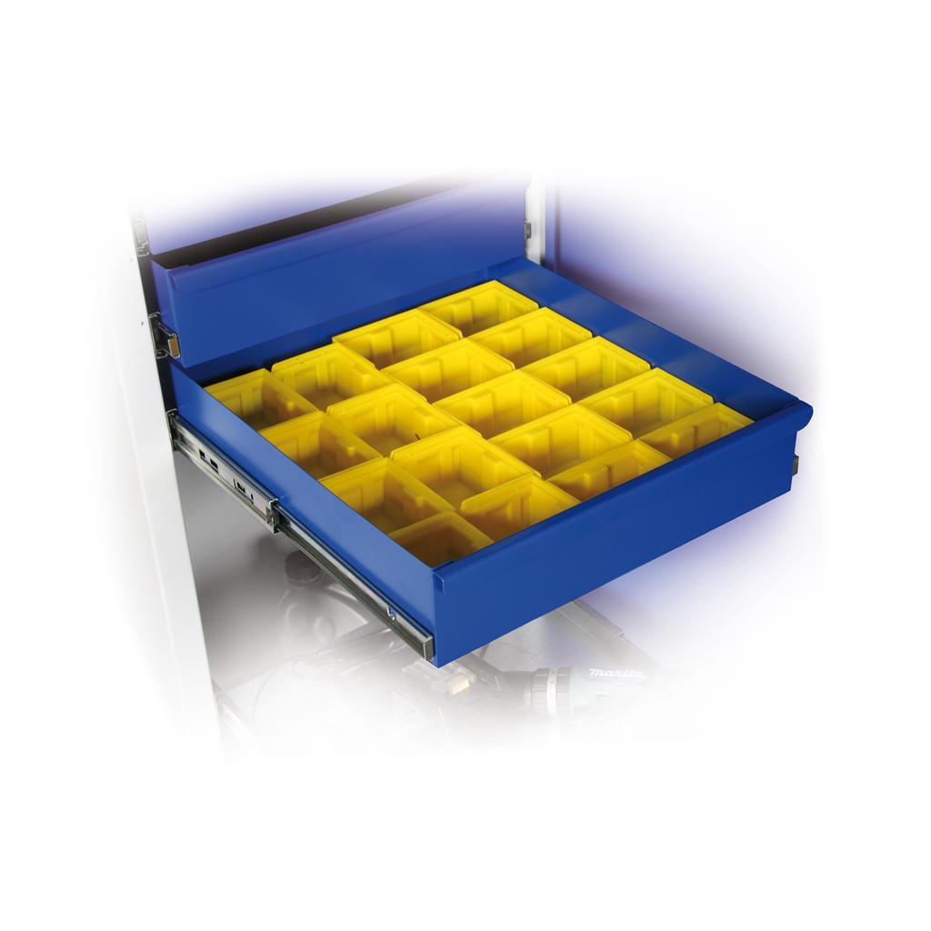 Einteilungsset, Kunststoffkästen, für Schublade 950 mm