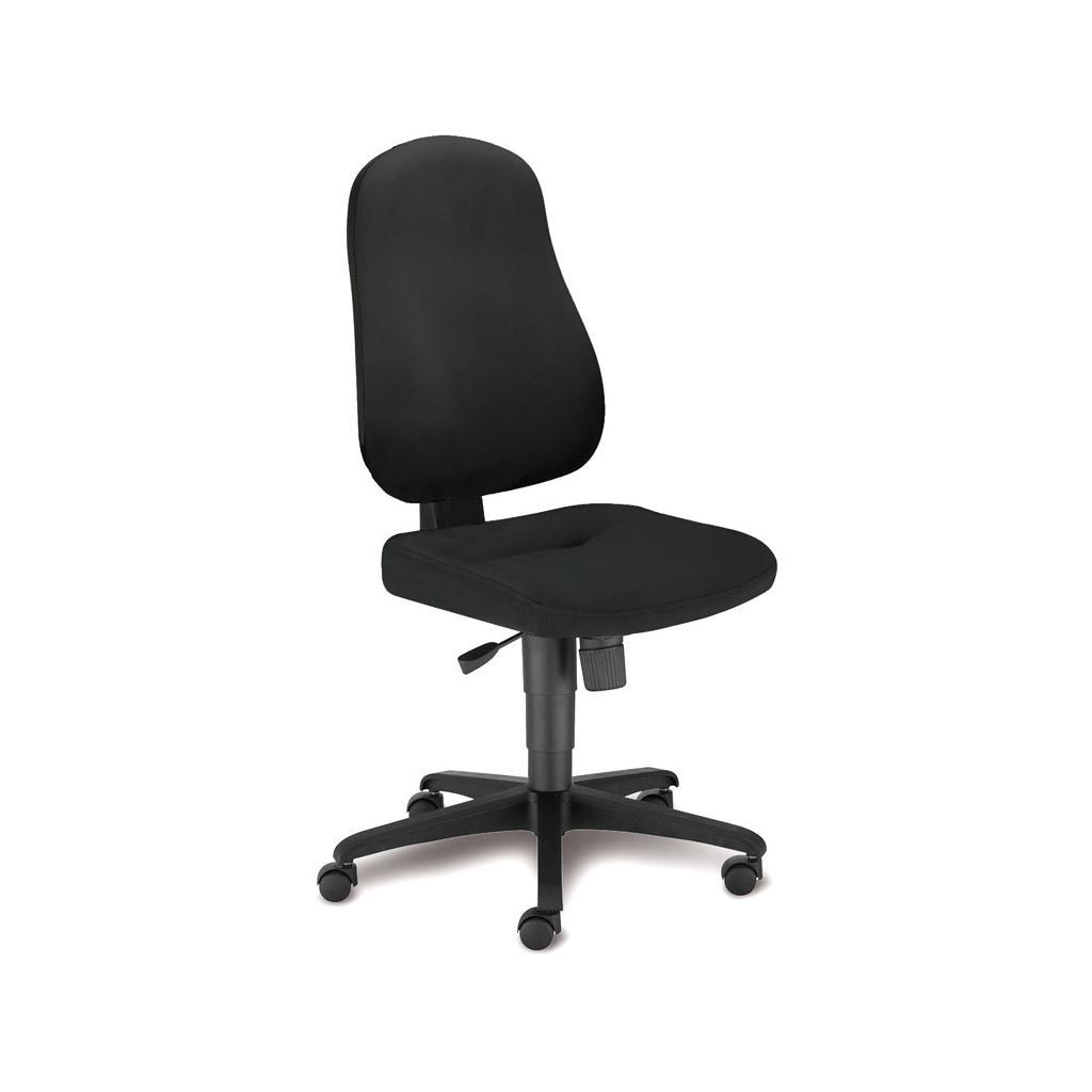 Bürostuhl Bizzi - Synchronmechanik - ohne Armlehnen - Bezug in Schwarz