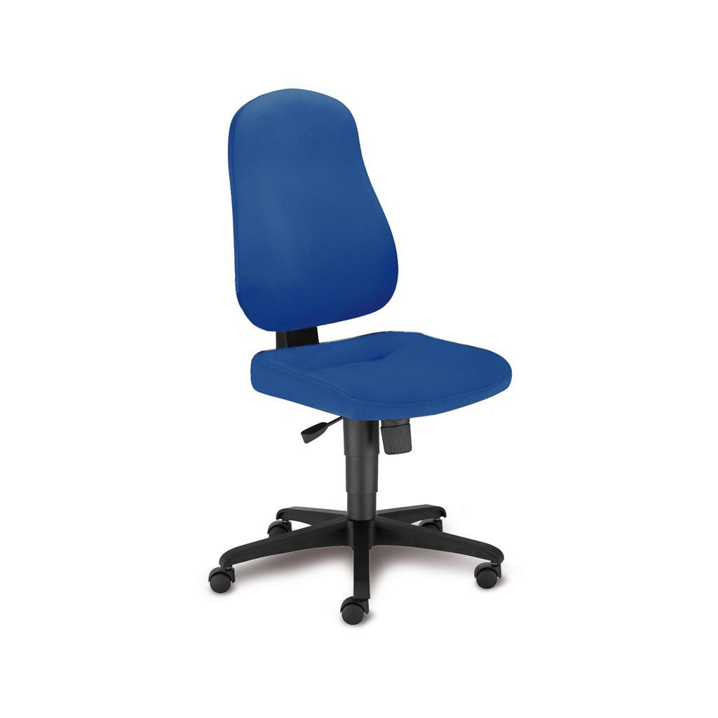 Bürostuhl Bizzi - Synchronmechanik - ohne Armlehnen - Bezug in Blau