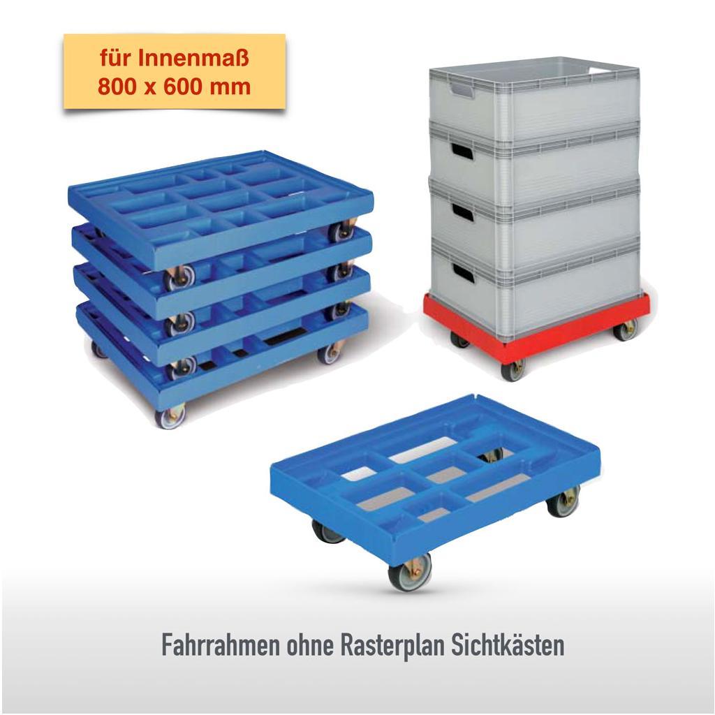 Transportroller - aus HDPE - für Behälter 800 × 600 mm