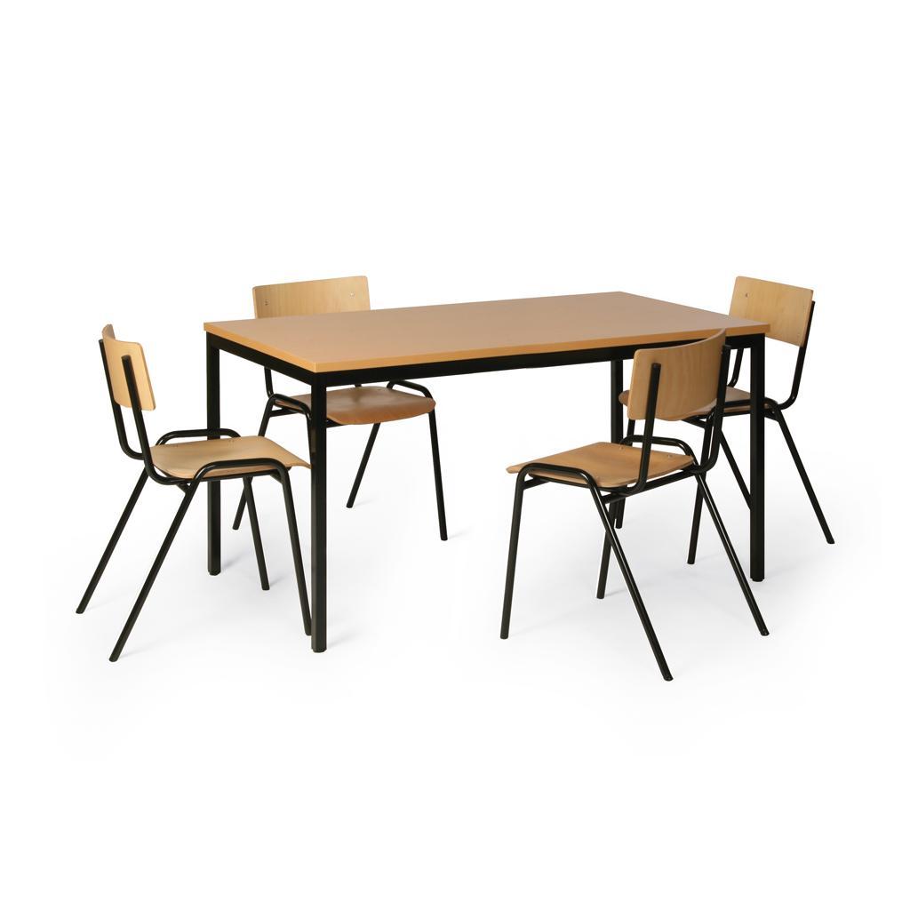 Tisch-Stuhl-Kombination - Tisch 1200 x 800 mm - 4 Stühle