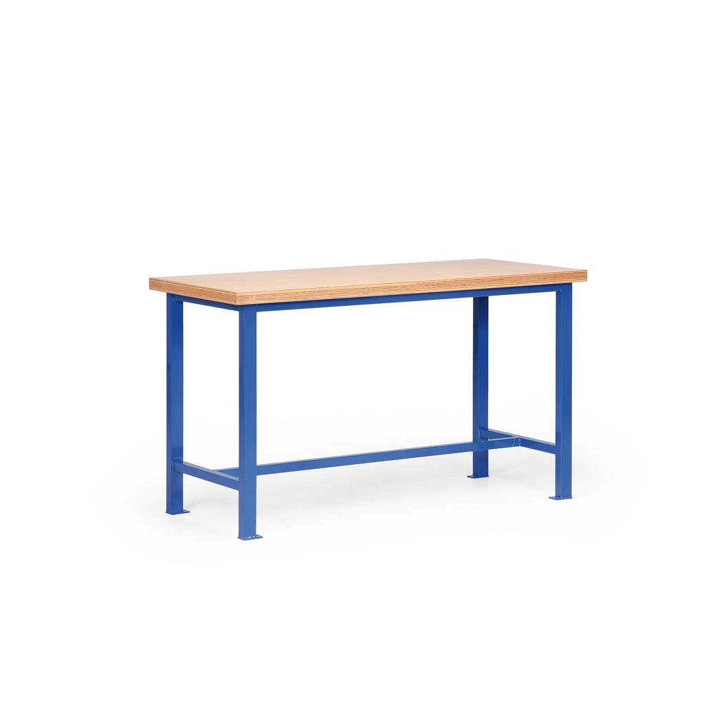 Werkbank mit Holzplatte - 40 oder 50 mm - L 1500 x T 700 mm - Grundmodell