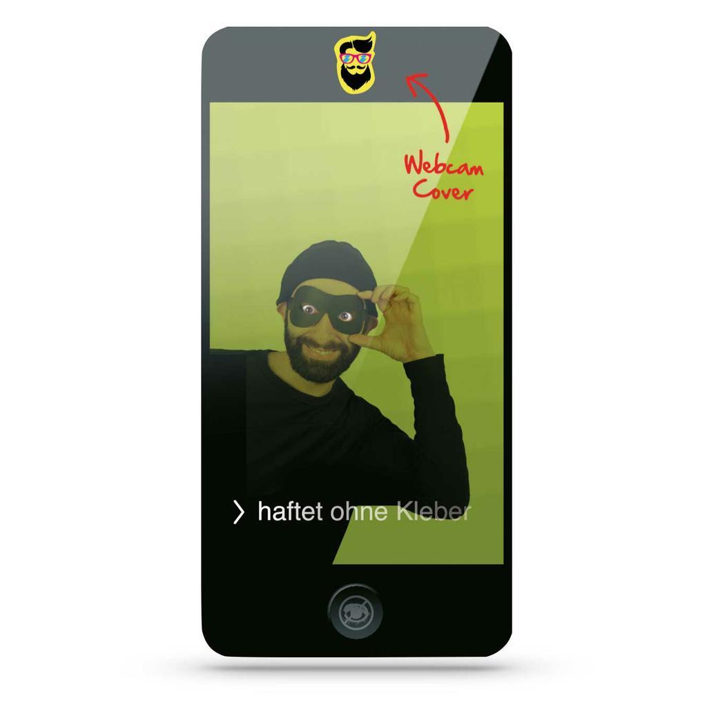 """Werbekarte mit Webcam-Sticker """"SMARTPHONE"""""""