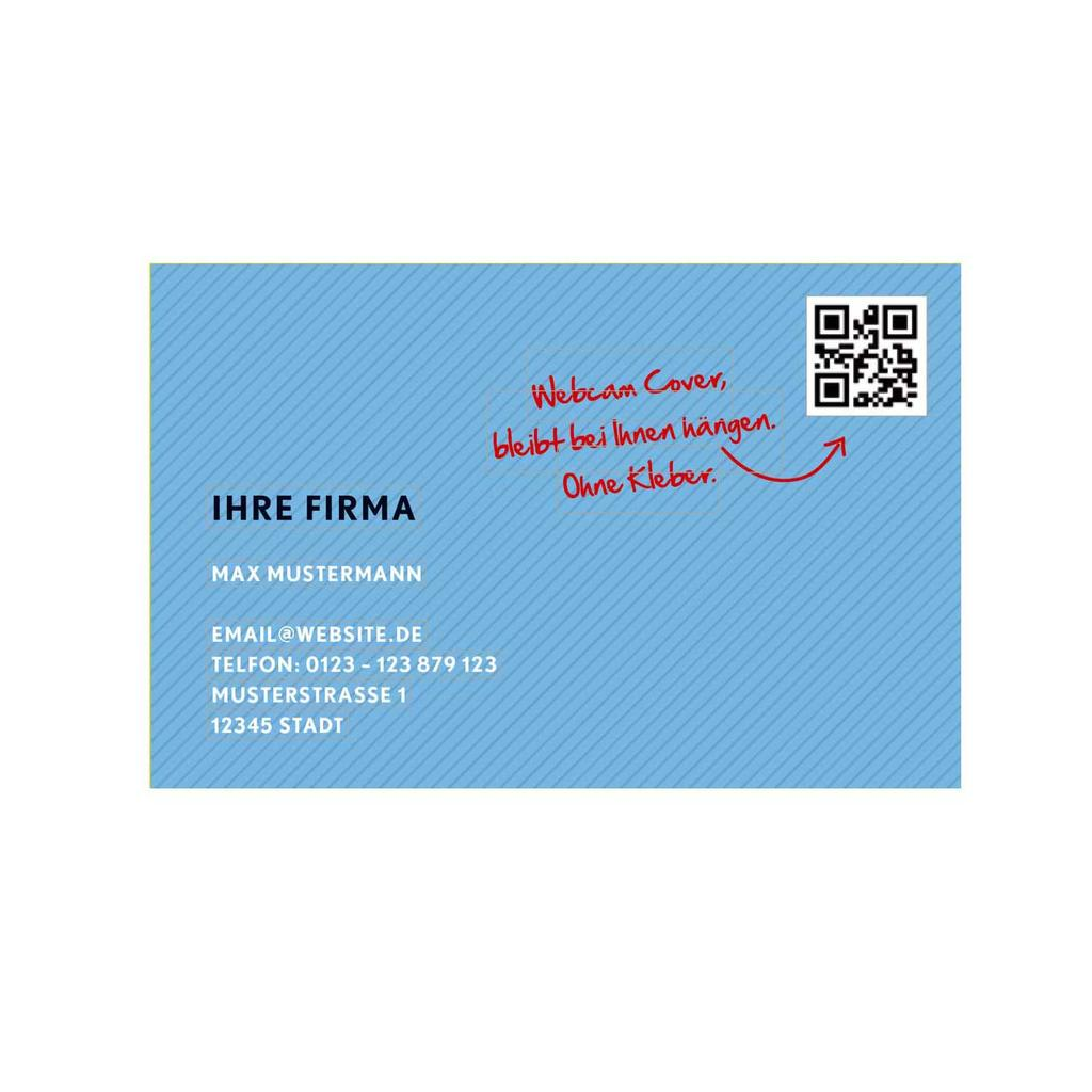 """Werbekarte mit Webcam-Sticker """"Visitenkarte"""""""