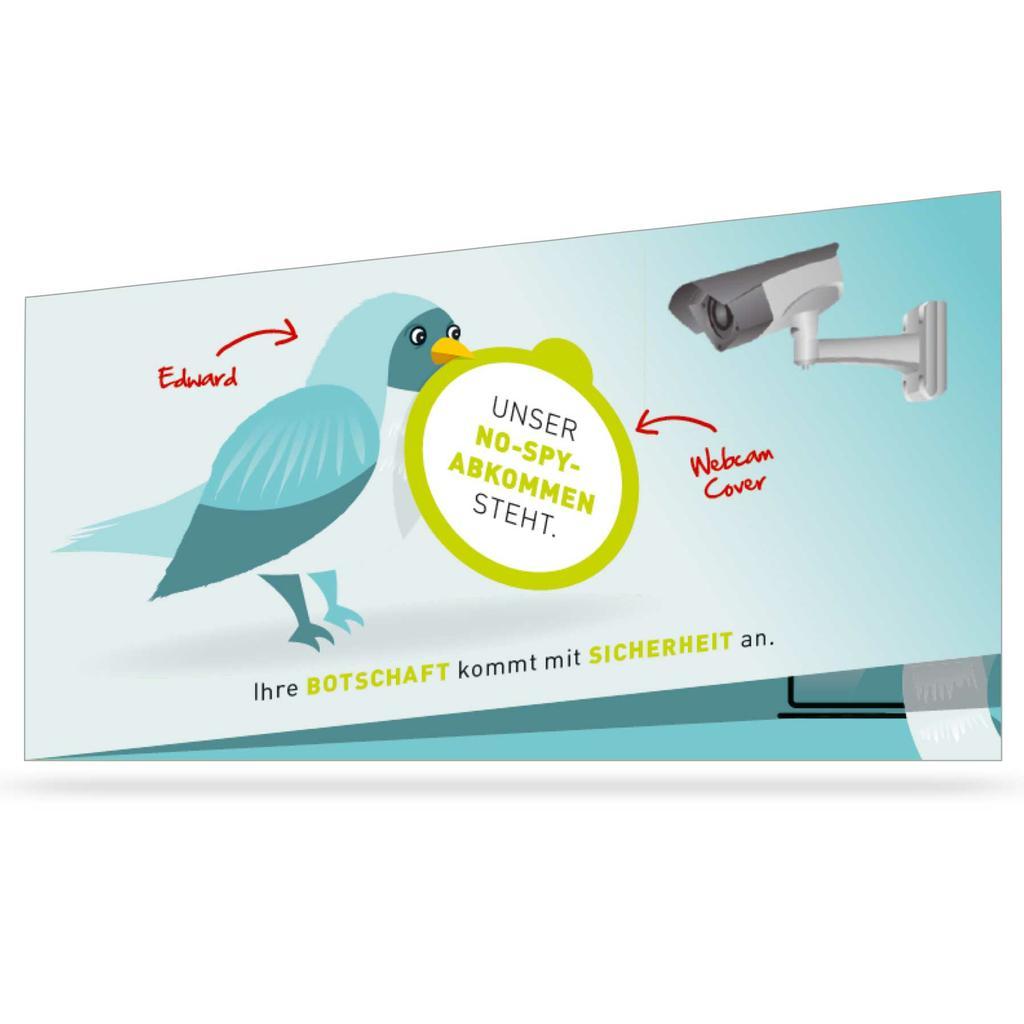 Mailing-Klappkarte DIN Lang mit Webcam-Sticker