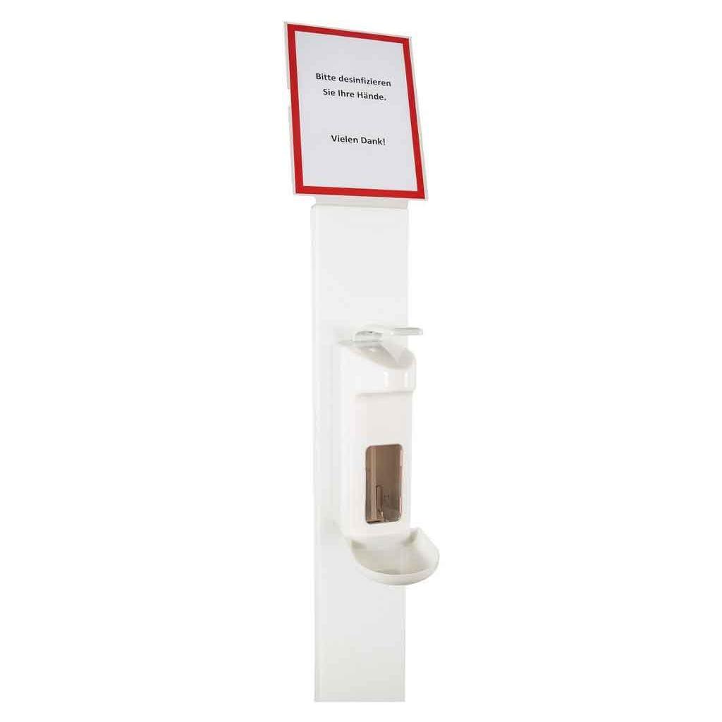 Desinfektionsmittel-Säule - aus Acryl - inklusive Spender Basic Line 500 ml