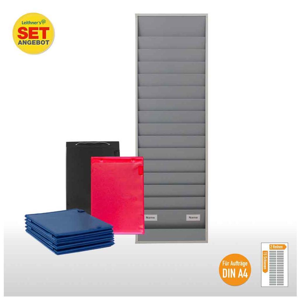 Plantafel-Set - für DIN A4 - für 30 Aufträge + 30 Auftragstaschen